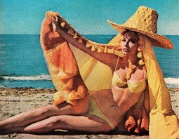 """Actress Claudie Lange in Fellini's 1965 Film """"Juliet of The Spirits"""".  Published in Life magazine, August 27, 1965 - Vol. 59, No. 9. CC BY-NC."""