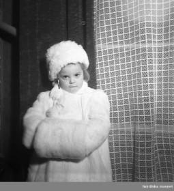 nordiska museet girl white fur 1940s europeana fashion gullers