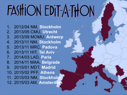 Fashion Edit-a-thon overview map