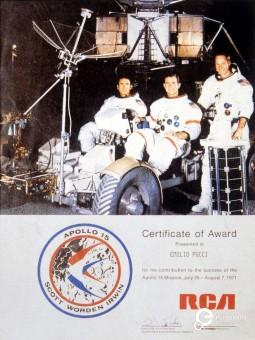 Apollo XV mission's logo designed by Emilio Pucci for the Nasa. 1971. Courtesy of Pucci Archive.