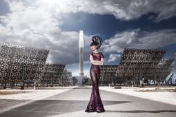 Jessica Mihn Ahn's J Summer Fashion Show 2015 at Gemasolar solar power plant in Seville, Spain. Photo courtesy of J Model Management