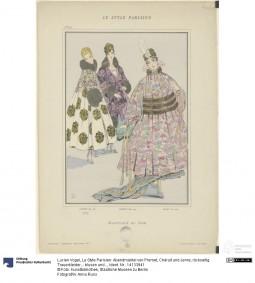 "Litograph ""Planche XIX - Supplément du Style Parisien"", author Lucien Vogel, November 1915, No. 4. Anna Russ, Kunstbibliothek, Staatliche Museen zu Berlin CC-BY-NC-SA"