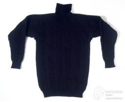 Gansey jumper of combed and hand-knitted worsted, made in Staithes, 1980. Collection Victoria and Albert Museum, CC-BY-NC