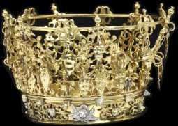 Silver bridal crown, partly gilded. Sweden, 1750-1870. Courtesy of Victoria and Albert Museum. CC BY SA