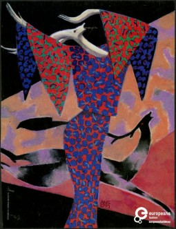 Illustration by Lorenzo Mattotti, on Vanity, 1985, Courtesy Missoni Archive