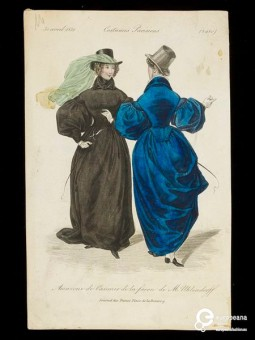 Woman's riding habit designed by M. Uhlendorff published in the Journal Des Dames, Paris, dated 30 April 1832. Courtesy of Victoria and Albert Museum. CC BY NC