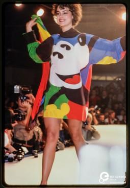 Jean-Charles de Castelbajac, f/w 1982-83 fashion show. Photo © Paul van Riel / HH.