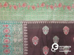 Sari in silk and metal thread, Courtesy Heritage and Sustainability - University of Antwerp
