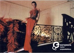Actress Audrey Hepburn wearing a red evening dress by Givenchy. 1989. Courtesy of CER.ES: Red Digital de Colecciones de museos de España. All rights reserved